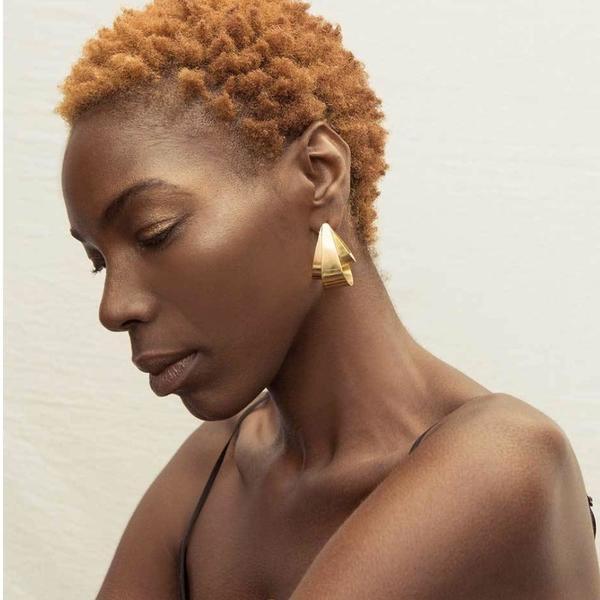 Soko Siri Statement Earrings - Brass