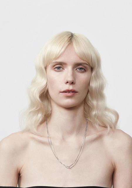 Annika Inez Fine Linked Necklace - Sterling Silver