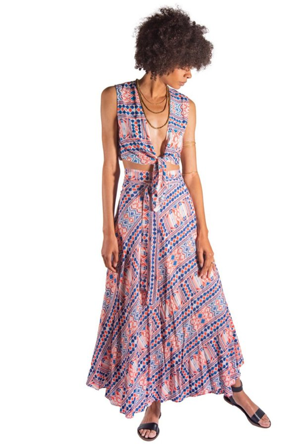 Tysa Wrap Skirt - Tuscany