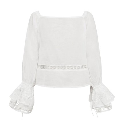 All That Remains Luna Blouse in Salt