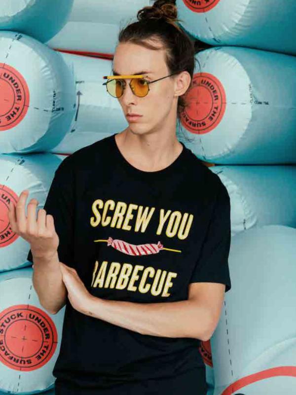 Henrik Vibskov Screw U BBQ T Shirt - Black