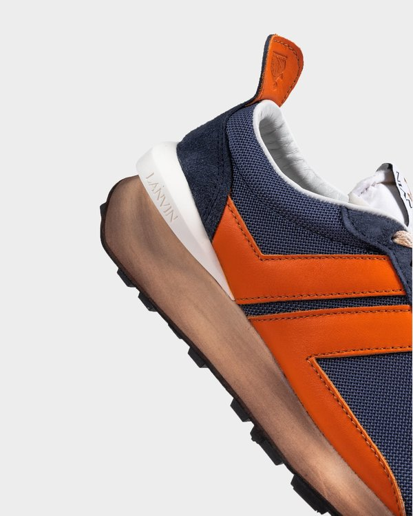 Lanvin Mesh Running Sneaker - Cloud/Orange