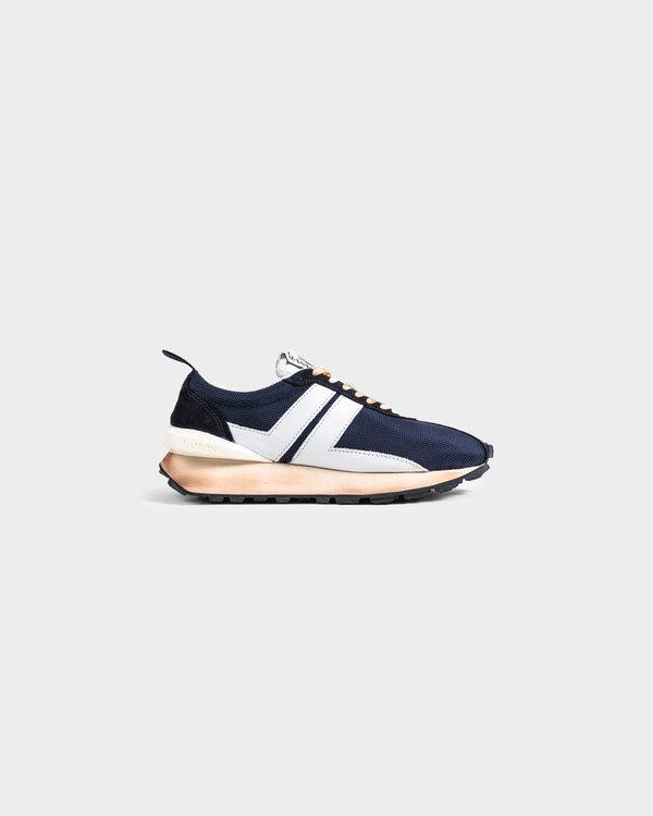 Lanvin Nylon Running Sneaker - Navy/Blue/White