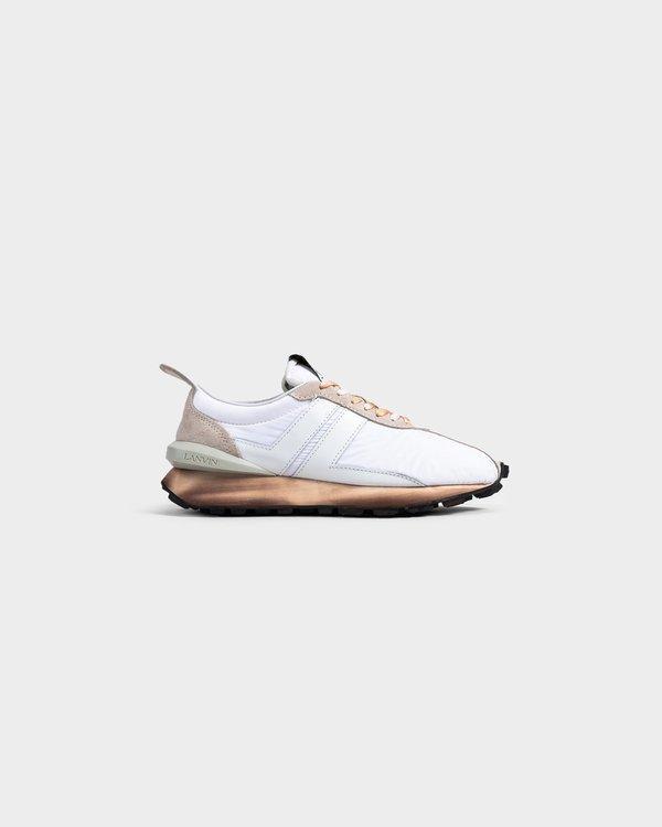 Lanvin Nylon Running Sneaker - Optic White