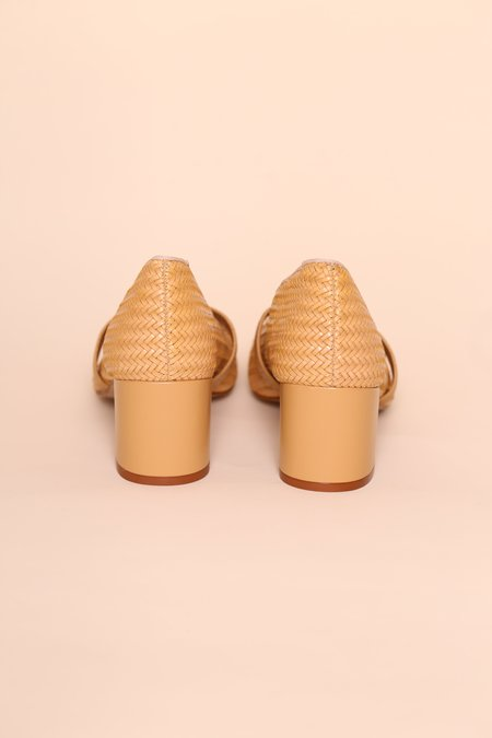 """INTENTIONALLY __________."" FRIDAY Heel - Camel"