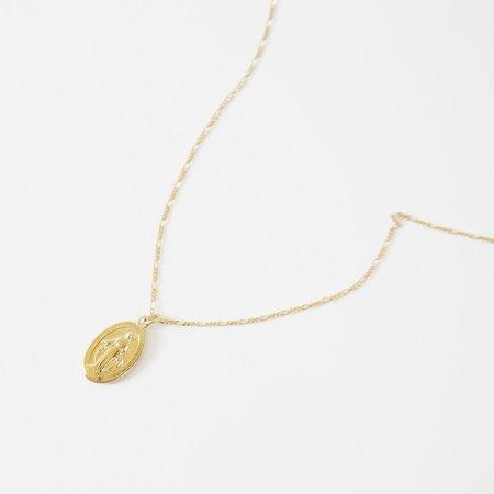 Deux Lions Madonna Necklace - 14k Gold Vermeil