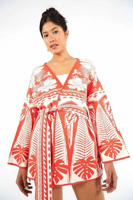 Farm Rio Sweater - Red Palm