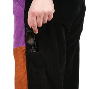 Noon Goons COLORBLOCK CORD PANT - PURPLE/BROWN/BLACK