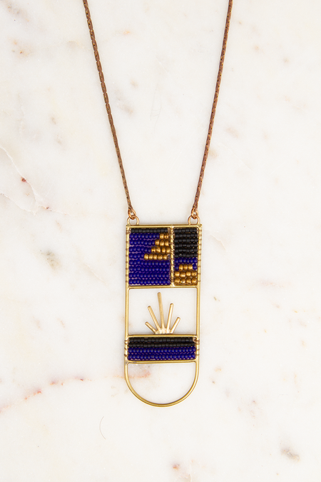 Alchemilla Midnight Ellipse Necklace