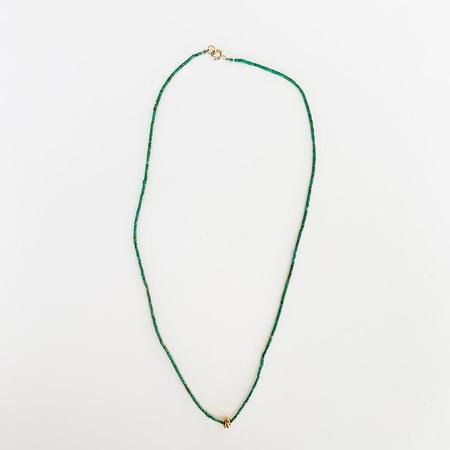 Nancy Yuan Turquoise Necklace with beads - 18K Gold