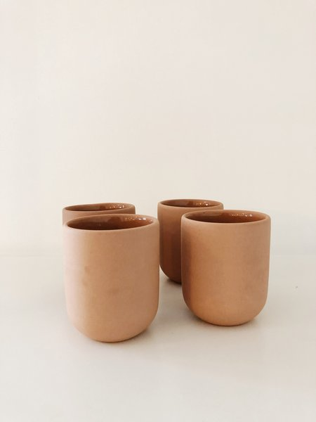 Peaches the Studio SET OF 2 TERRA TUMBLERS - Terracotta