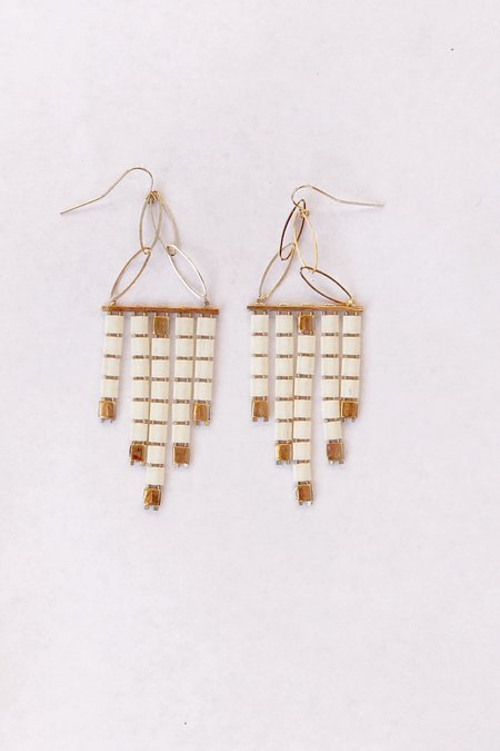 IL Design Milk and Honey Waterfall Earrings - 14K Gold