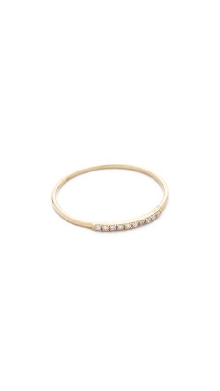 Gabriela Artigas Mini Axis Diamond Ring