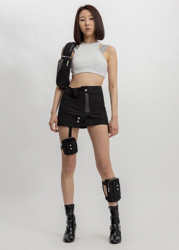 C2H4 Tactical Double Bands Belt Bag - black