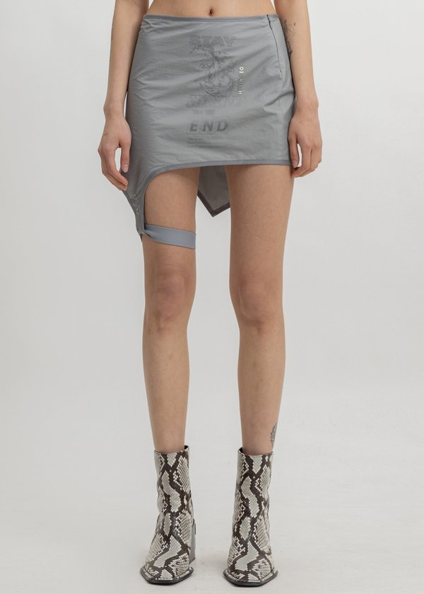 Hyein Seo Layered Garter Skirt - grey
