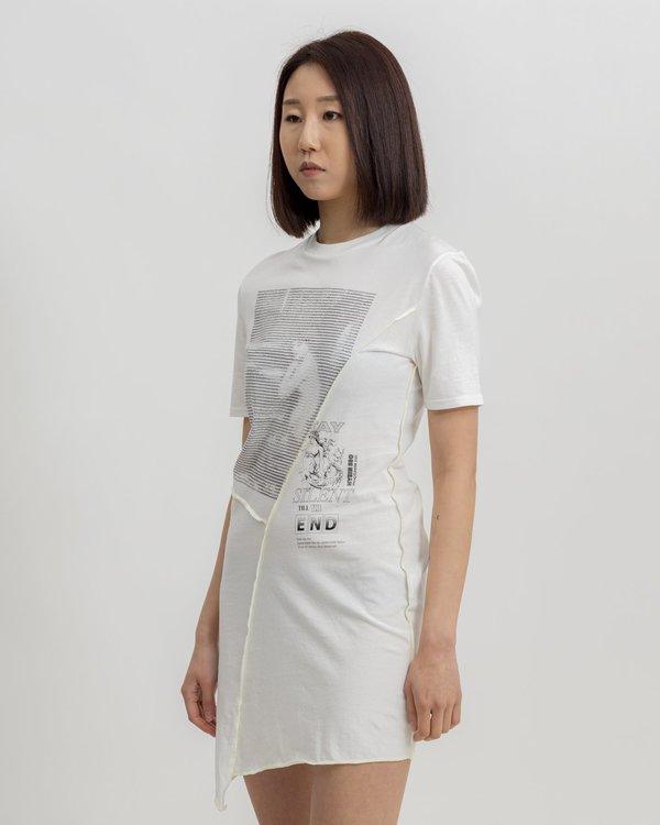 Hyein Seo Twisted Jersey Dress - white
