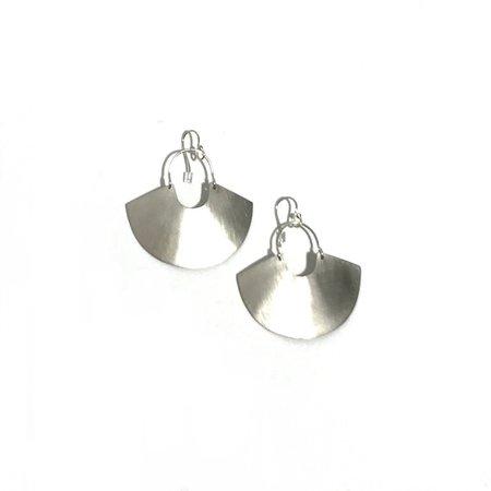 Enarmoured 'Goddess Shield Earring' Mini - Silver