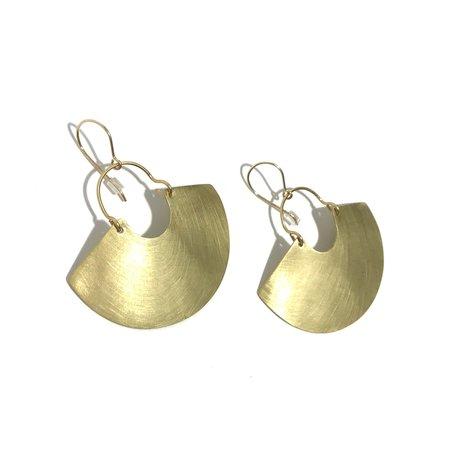 Enarmoured 'Goddess Shield Earrings' Mini - Brass