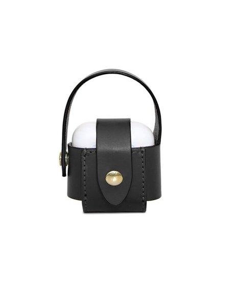Officina del Poggio AirPod Case - Black Leather