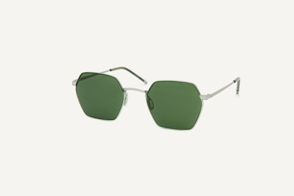 Dick Moby oil free Madrid sunglasses - forest satin silver