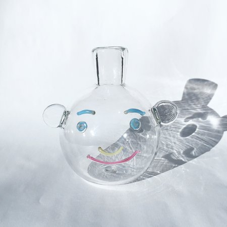TAK TAK Clear Bubble Face Vase
