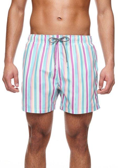 Boardies Rock Stripe Mid Length Swim Shorts