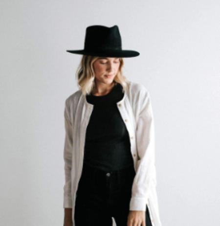 Miller Fedora Hat with Black Band - Black