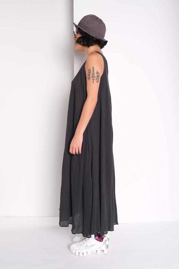 Black Crane Floral Dress