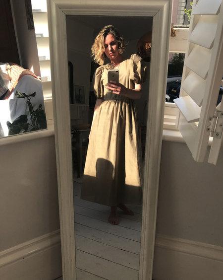 AVN Puff Sleeve Dress - Sand