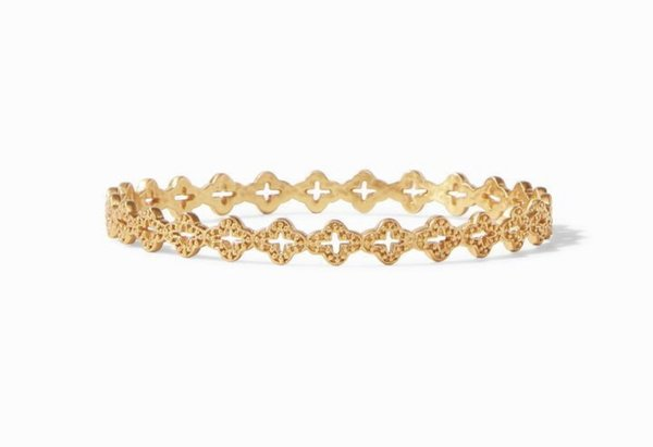 Julie Vos Florentine Stacking Bangle - 24K gold plate