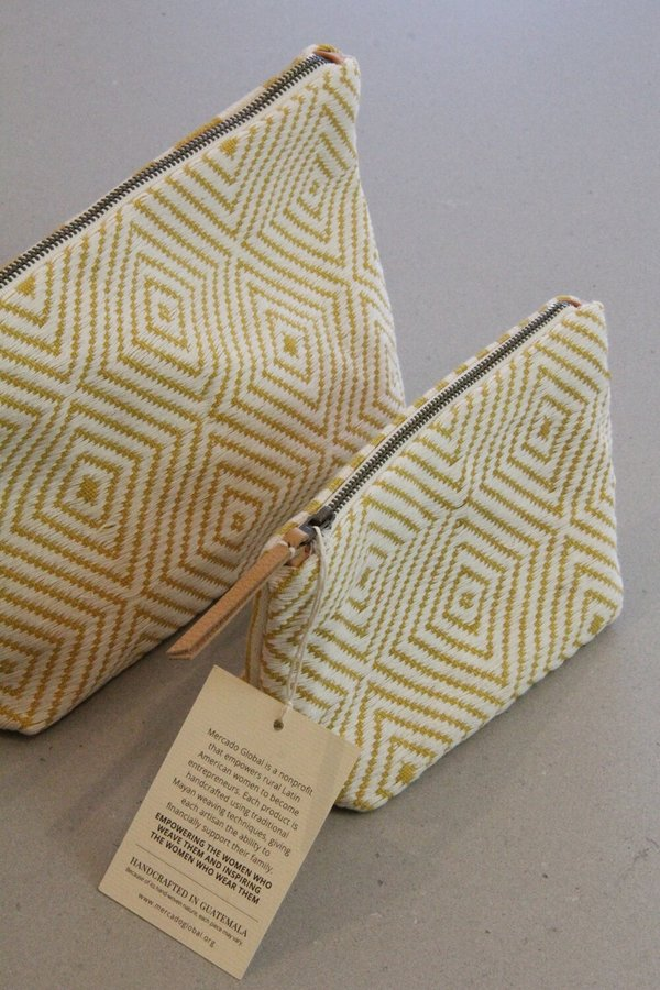 Mercado Global Cristina Cosmetic Pouch - Sunflower yellow
