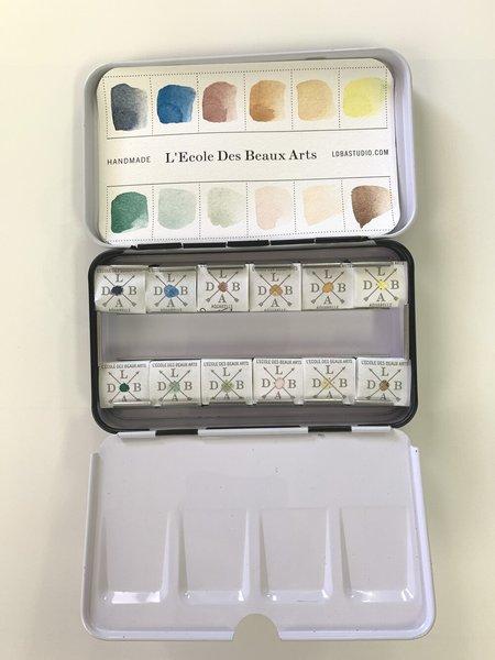 ldba L'Ecole Des Beaux Arts Desert Palette Watercolor Set