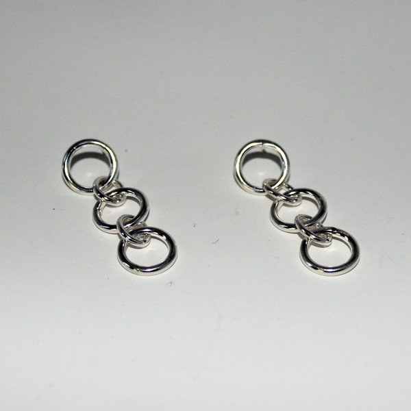 Body Double Chained Earrings - sterling silver