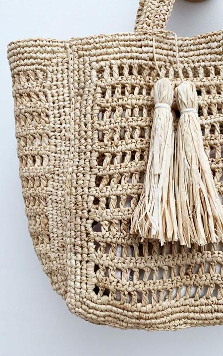 Maison NH basket bag - natural