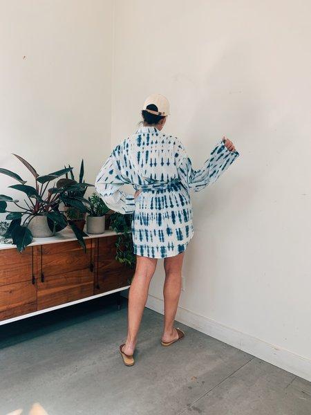 Nanushka Keiko Oversized Shirt With Belt - BIO INDIGO