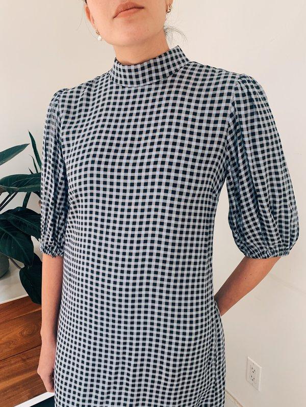 Ganni Printed Crepe Mini Dress