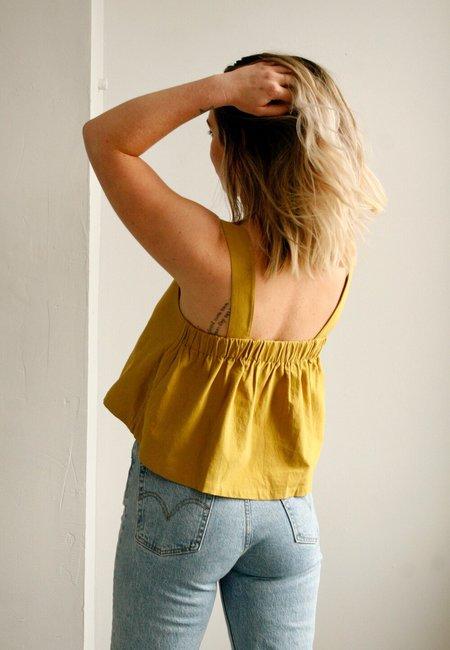 7115 by Szeki Summer Sun Top - Mustard