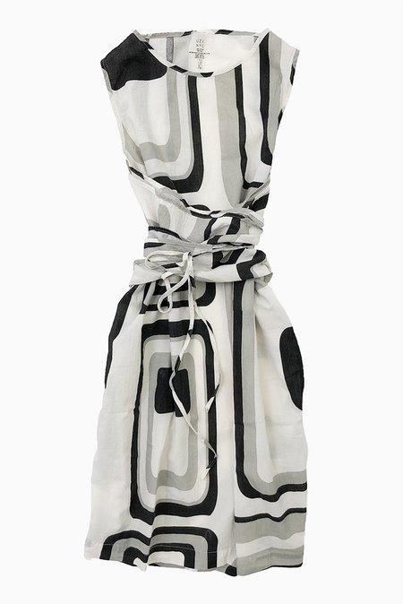 Uzi NYC UZI Oxford Dress - Zero/Stone