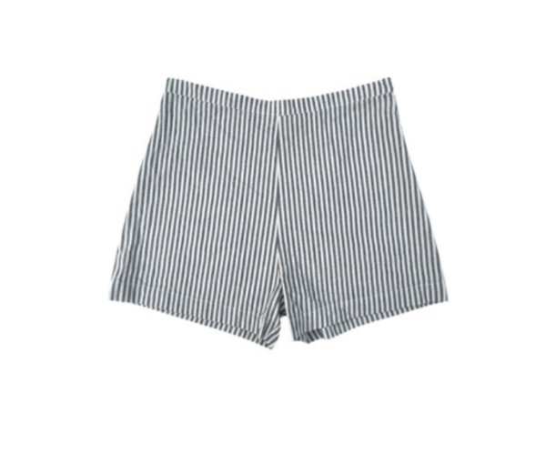 ALI GOLDEN STRIPED LINEN SHORTS - STRIPED