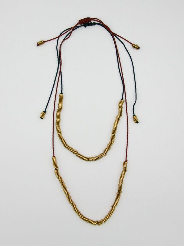 SOFIA RAMSAY Macrame Necklace - Brass