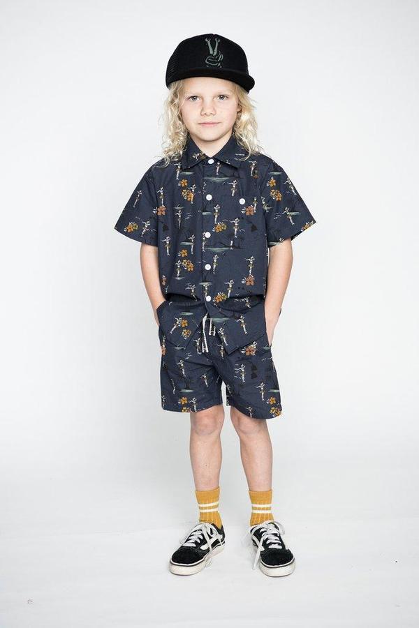 Munster Kids Islands Shorts - Navy
