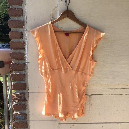 Horizons Vintage Silk Top - Coral