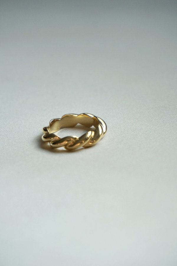 SOPHIE BUHAI SMALL ROPE RING - 18K GOLD VERMEIL