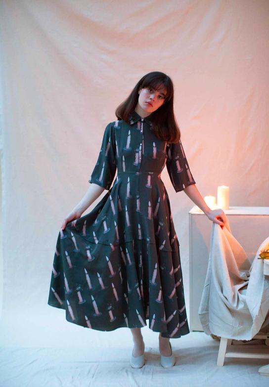 Morticia Dress - SAMANTHA PLEET