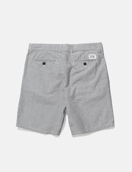 Norse Projects Aros Seersucker Shorts - Navy Stripe