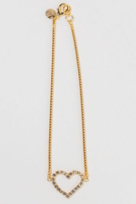 LARUICCI Crystal Heart Necklace
