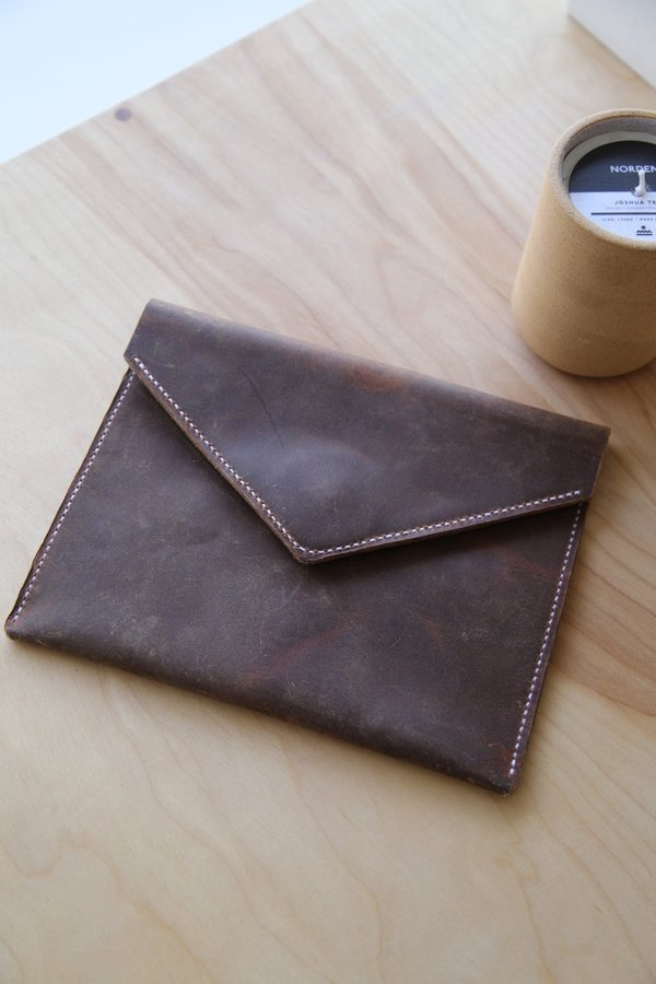 Foxtrot Supply Co. Prototype Envelope Clutch - Brown