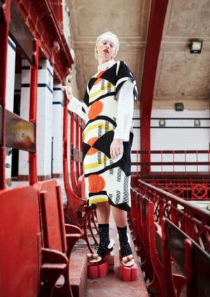 HENRIK VIBSKOV NO.3 Pleated Dress - GEOMETRIC PRINT