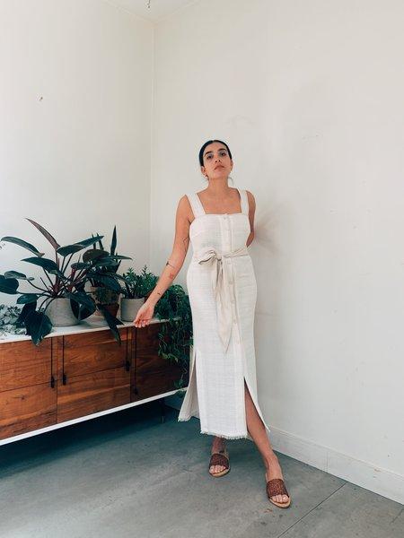 Nanushka Rita Button Down Dress - White