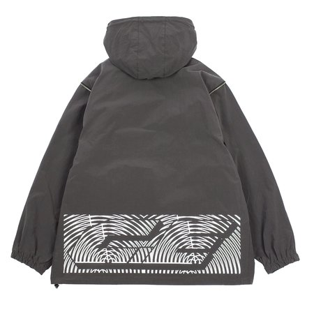 Cav Empt CONCEAL SLEEVE PULLOVER JACKET - CHARCOAL